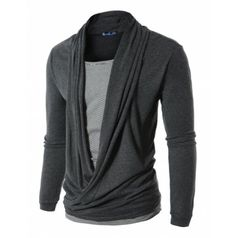 Mens Style Casual Cardigan Style Tshirts(WCT:DOUBLJU)