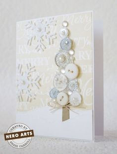 Project: Button Tree Card – Stamping