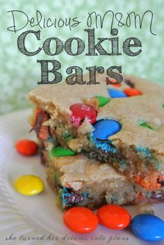 Delicious M Cookie Bars