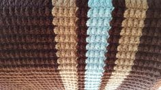 Crochet Blanket Brown Chocolate Tan and lite by SensationalYarn