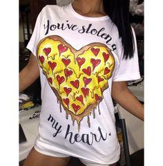Dámské moderní tričko s potiskem srdce – VELIKOST L Na tento produkt se  vztahuje nejen zajímavá 7b96516042