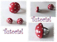 Lightweight polkadot ring and earrings set tutorial by Lavilla
