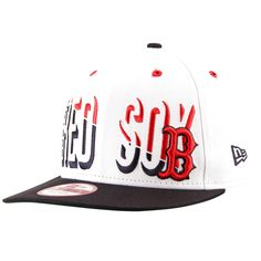 Boston Red Sox New Era Splitter 9FIFTY Snapback Adjustable Hat -  White Navy. Gorras ... 777fe5f5aab