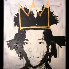 Basquiat acrylic on canvas 95/85 cm