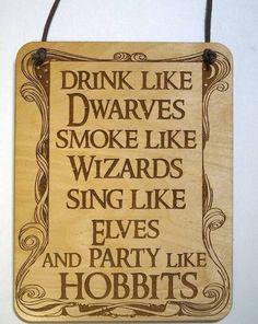 drink like dwarves sign