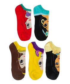 Take a look at this Disney Princes Black Five-Pair Ankle Socks - Women today!