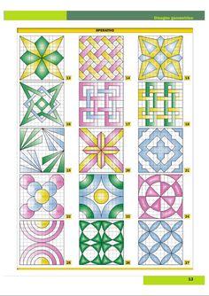 Geometric Drawing, Geometric Art, Barn Quilt Designs, Quilting Designs, Blackwork Cross Stitch, Iphone Wallpaper Quotes Love, Graph Paper Art, Pixel Pattern, Spirograph