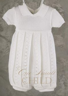 Aaron Knit Short Christening Outfit