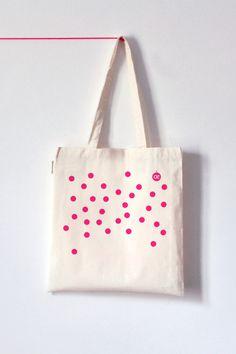 Pink Dot Tote Bag www.koromiko.com