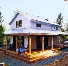 off-the-grid home, what a porch!