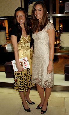 Pippa Middleton and Duchess Kate together at a London book launch party in 2007.   Photo: Dave M. Benett/Getty Images