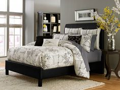 Madison comforter set - available in king and queen. #bedding #aico #amini