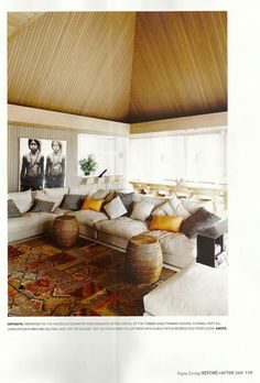 vogue living - sectional/pillows/carpet