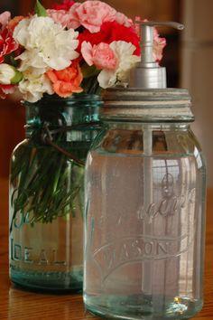 mason jar | soap dispenser