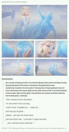 "Do you want to build a snowman reprise Frozen. (look on ""Turner's Frozen Board"" if you wanna hear the song! Disney Pixar, Disney Memes, Disney And Dreamworks, Disney Frozen, Walt Disney, Disney Facts, Funny Disney, Disney Love, Disney Magic"