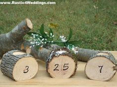 www.Rustic4Weddings.com - #Rustic #Wedding #Table #Number #Candle #Holders for sale.