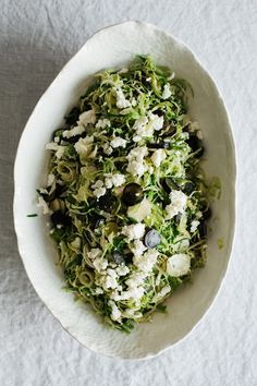 West Elm + Ashley Rodriguez — Brussels Sprouts, Grape, and Feta Salad