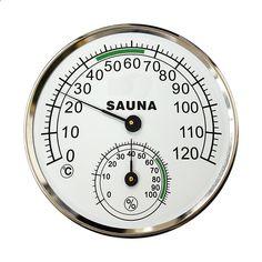 5-tums ratttermometer Hygrometer metallskal Sauna rum Hygro-termometer Sauna Room, Saunas, Cooking Timer, Rum, Shells, Household, Metal, Outdoor, Conch Shells