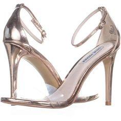 54e993a933 Steve Madden Stecy Ankle Strap Dress Sandals, Rose Gold, 8 US #sandals #