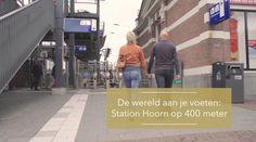 De wereld aan je voeten Station Hoorn op 400 meter.