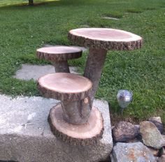 cupcake tree stand my husband made ~ Rustic wedding decor