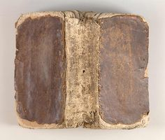 Prayer book. Repairs were made to this eighteenth-century French prayer book and Christian calendar using a leather spine patch. From the bookbinding study collection of Mindell Dubansky