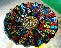 DIY mosaic bird bath by joann