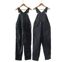 Vintage 90s Maternity Clothes Maternite Black Overalls by #ShineBrightVintage