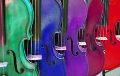Rainbow of Violins 8x10 by MemoriesByTessa on Etsy, $30.00  Coupon code HOLIDAY to receive 25% off now through 1-31-2013