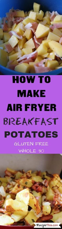 The most delicious breakfast potatoes i have ever tried and they are low in oil thanks to the 🙂 Air Fryer Breakfast Potatoes. The most delicious breakfast potatoes i have ever tried and they are low in oil thanks to the 🙂 Air Fryer Oven Recipes, Air Frier Recipes, Air Fryer Dinner Recipes, Pan Sin Gluten, Sans Gluten, Actifry Recipes, Cooks Air Fryer, Air Fried Food, Breakfast Potatoes