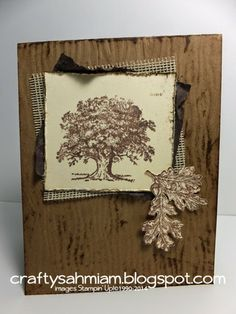 crafty sahm i am: The Old Oak Tree Card