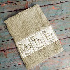 Periodic Table Mother Applique Embroidery by AppliqueGeekDesigns