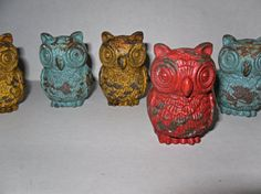 Owl Knob/ Cast Iron Knob / Dresser knob / Drawer Knob / Whimsical / Nursery / Metal Drawer Pull / Shabby Chic Knob / Shabby Chic Decor on Etsy, $6.50