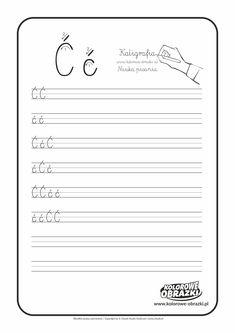Kaligrafia litery - nauka pisania dla dzieci   Kolorowanki dla dzieci Aga, Full Bed Loft