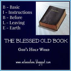 The blessed old book - The Bible!