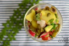 mediterraner Kartoffelsalat #maedchenkueche #detox #cleaneating Fruit Salad, Potato Salad, Detox, Clean Eating, Potatoes, Ethnic Recipes, Dessert, Vegan, Food