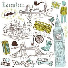 Скачать - Лондонские болваны — стоковая иллюстрация #10377066