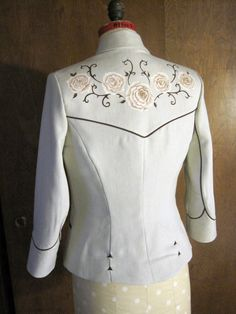 Desert Rose Western Tailored Ladies Jacket - Rodeo Queen Vintage Rockabilly Nudie Manuel Nashville Southwestern Blazer Treasure Detectives