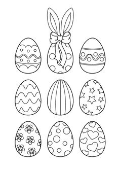 Easter is the oldest & most important festival & kids spend maximum time painting eggs. Check out our collection of free printable Easter egg coloring pages Free Easter Coloring Pages, Online Coloring Pages, Coloring Easter Eggs, Colouring Pages, Free Coloring, Easter Crafts For Toddlers, Easter Activities, Kids Crafts, Easter Drawings