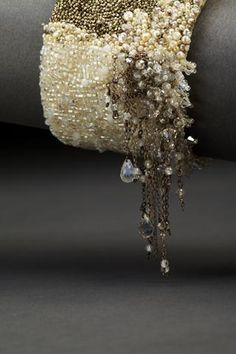 Dangle Couture Cuff. Andrea Gutierrez Jewelry.