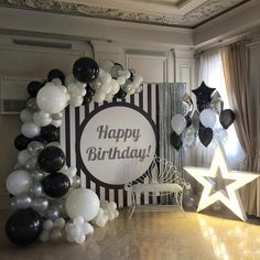 Ideas birthday party decorations for adults men decor - FallTrends - Sylvia Eisel - Ideas birthday party decorations for adults men decor - FallTrends Ideas birthday party decorations for adults men decor - Birthday Party Decorations For Adults, 70th Birthday Parties, Adult Birthday Party, Graduation Decorations, Man Birthday, Soccer Birthday, Graduation Ideas, Balloon Decorations, Silvester Party