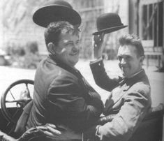 Laurel & Hardy  or Stan and Ollie!  grew up watching them with my grandfather : )