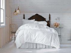 décoration de la chambre romantique blanche Shabby Chic