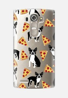 Boston Terrier Pizza - cute funny boston terrier owner phone case pizza LG G4 case by Pet Friendly | Casetify