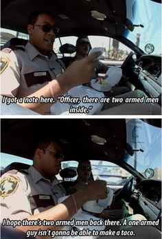 Haha love Reno Miss this show Funny Black Memes, Funny Memes, Jokes, Funny Photos, Best Funny Pictures, Reno 911, This Man, Funny People, I Laughed