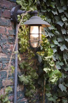 West Village backyard, wharf light; Gardenista
