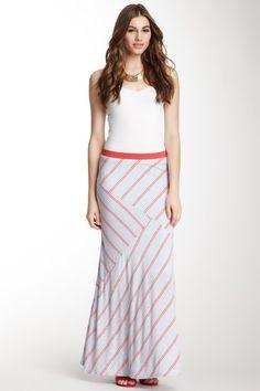 Bobeau Bias Variegated Stripe Maxi Skirt by Maxi Dresses on @HauteLook