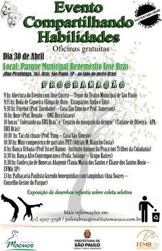No próximo dia 30 de abril às  10:30  irei fazer uma oficina do montagem de uma composteira caseira feita com 2 garrafas Pet  no parque Benemérito José Brás.   Convido todos vocês para participar  Adrian Marcelo Riancho Costa
