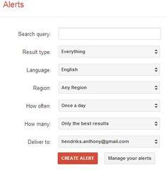 How to Use Google Alerts - http://completereputationmarketing.com/656/use-google-alerts/