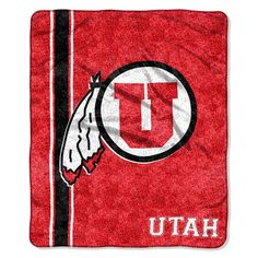 Utah Utes NCAA Sherpa Throw (Jersey Series) (50in x 60in)